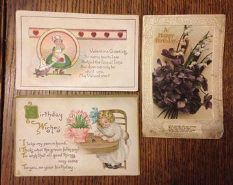 Birthday & Valentine Postcards