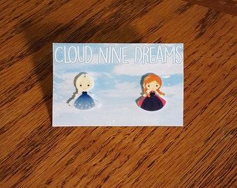 Frozen Inspired Elsa and Anna Earrings