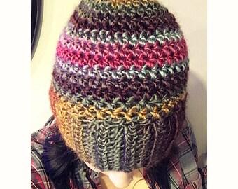 Sunrise crochet soft beanie ribbed beanie