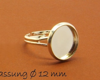 Ring blanks 17 mm silver 12 mm cabochon version