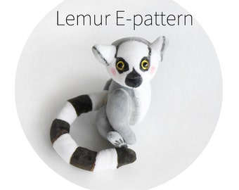 Pattern to create lemur - download E- pattern PDF