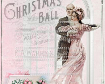 Pink The Christmas Ball roses Waltz dance Large digital download ECS buy 3 get one free