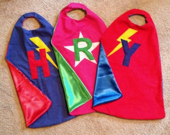 Handmade personalized superhero capes