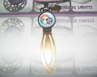 Beautiful bookmark bronze cabochon 20mm