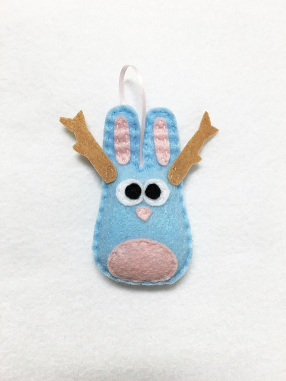 Jackalope Ornament, Christmas Ornament, Jared the Jackalope, Taxidermy Ornament, Taxidermy Rabbit, Funky Decoration