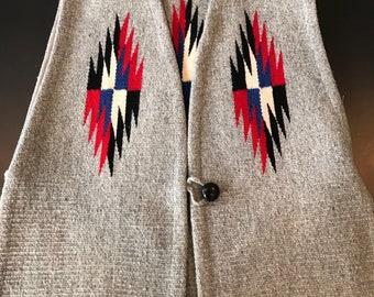Genuine Ortega's Chimayo handwoven vintage vest-Medium
