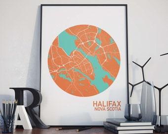 Halifax, Nova Scotia City Map Print