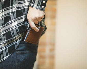 Leather Wallet // Brown Leather Billfold // Men's Wallet