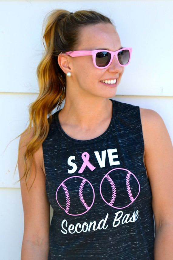 Save Second Base - Breast Cancer Awareness Tank: Option 1