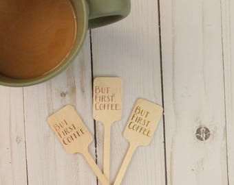 But First Coffee Drink Stirrers