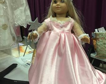 Glinda costume for American Girl sized doll