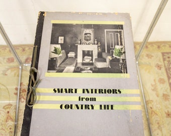 Hand Bound Smart Interiors From Country Life Vintage Book From 1950s