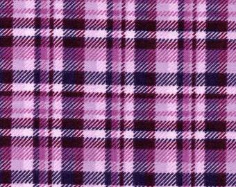 Snuggle Flannel Prints - Purple Plaid - 1 1/2 Yards