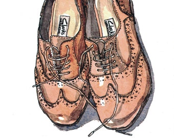 Shoes Art, Shoes Illustration, Art Print, Digital Art Print, Dressing Room Art, Dressing Room Decor, Bedroom Wall Art, Fashion Print