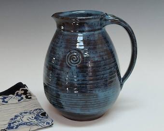 Stoneware Blue Pitcher