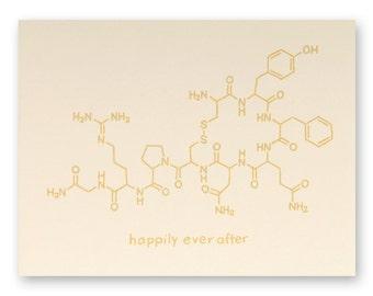 Chemistry Nerd Wedding Card - Science Wedding Card - Geek Wedding Card - Happily Ever After