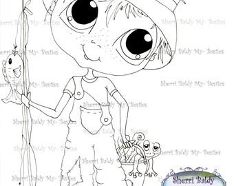 INSTANT DOWMLOAD Digital Digi Stamps Big Eye Big Head Dolls Digi Bestie Boyfriends imf567  By Sherri Baldy