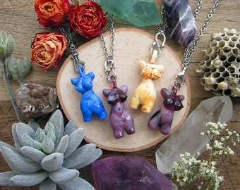 "Necklaces ""Goddess"" with amazing lampwork female body miniatures. Bails/hooks are sterling silver; chains are stainless steel of any length."