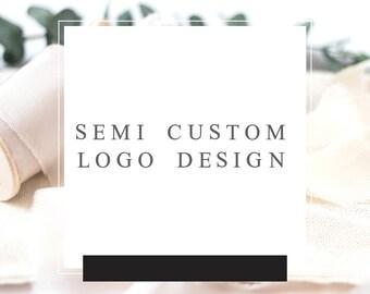 semi custom logo design photography semi custom logo flower florist semi custom logo boutique semi custom logo watercolor