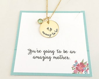 Gift for Expectant Mother - New Mother Gift - Expectant Mother Gift - Mom to be Gift - Mommy to be Necklace