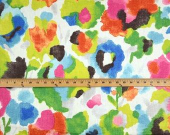 Play Tutti Frutti Watercolor Floral Linen Fabric