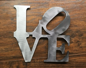 Imperfect Love Metal Art Sign