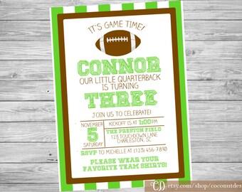Football Birthday Invitation / Football Invite / Sports Birthday / Printable Invite / Football