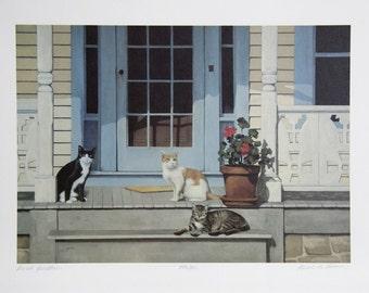 Gerald Lubeck Porch Dwellers Cat Print