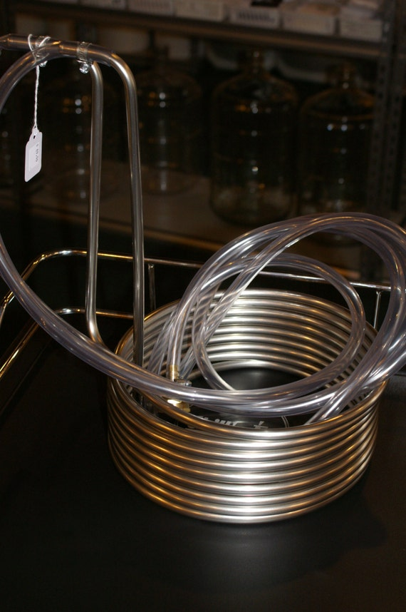 ALL Stainless 25' Wort Chiller Cooler for Beer Making includes all fittings & Tubing