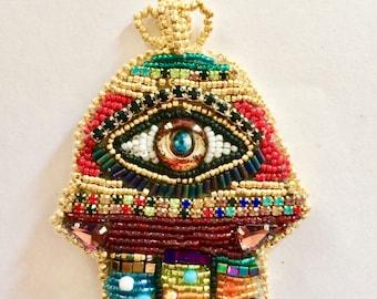 Hand of Fatima, Hamsa, eye, eye pendant