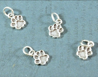 Sterling Silver - Paw Print - 12x9mm - Sold Per Piece