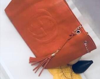 GG orange chain handbag
