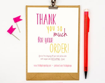 Thank you card printables for your creative by totallydesign business thank you cards instant download happily handwritten wajeb Images