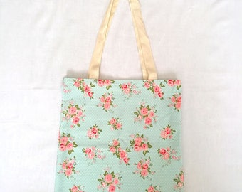 Cute Floral Chic Eco-Friendly Reusable Tote Shopping Bag