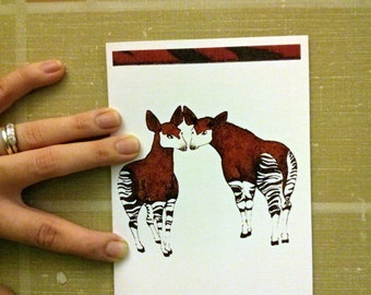 Anniversary Valentine's Day Card- Okapi - Our Love Is Different
