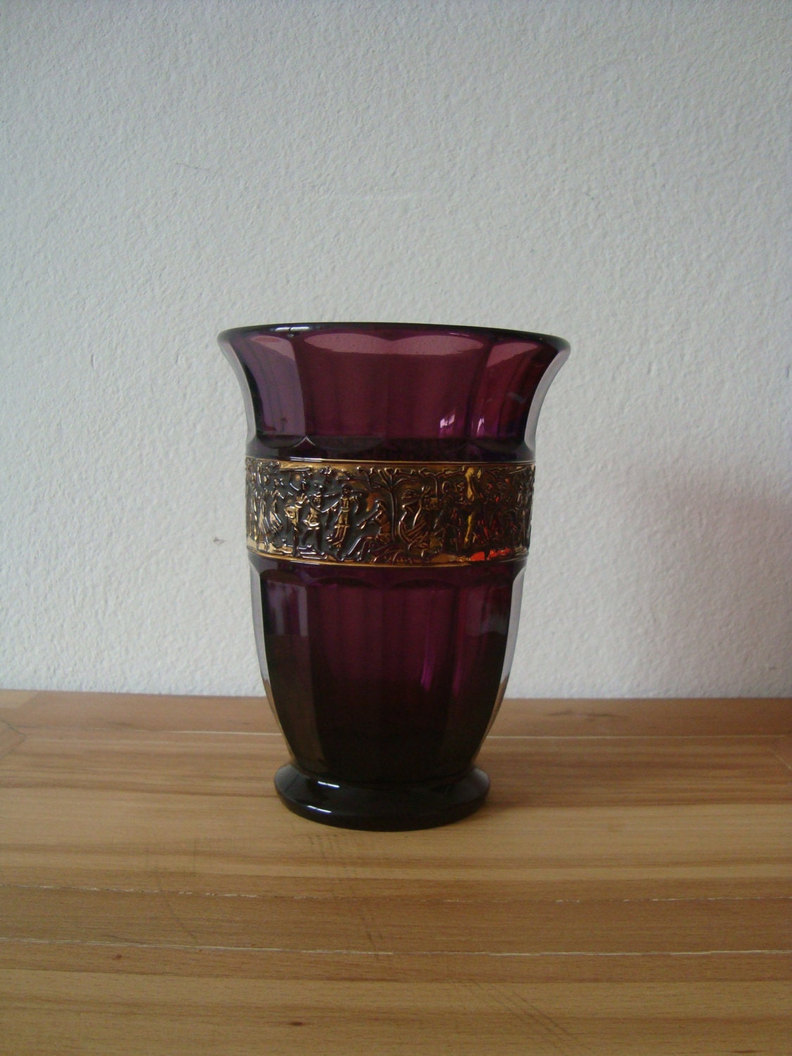 Moser style amethyst glass vase signed walther drp ang zoom reviewsmspy