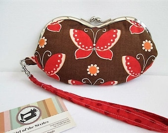 Butterflies Wristlet Purse/Sunglasses Case