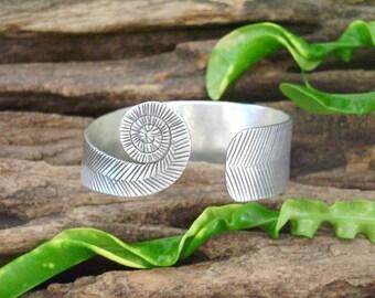 Silver Bracelet - The Spiral Lines