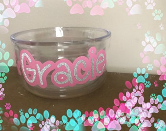 Custom dog bowl decal