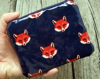 Fox - Zipper pouch / coin purse / card bag (padded) (ZS-236)