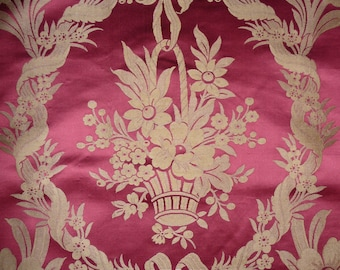 Interior textile panel with flower basket