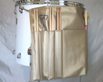 Roll It Ups Drumstick Bag : Drum Stick Bag Drummer Gift for Drummer Gold Vinyl