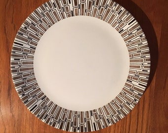 1960s rare Ridgeway Espresso dinner plates Ironstone made in England