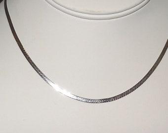 Vintage- 20 Inch Herringbone Sterling Silver Chain