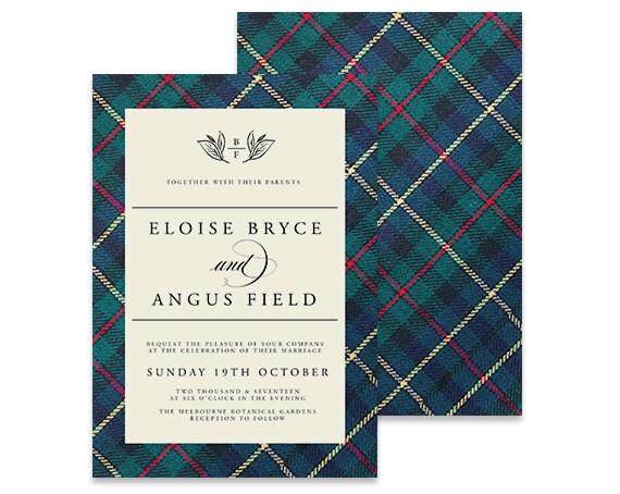 Wedding Invites Scotland: Scottish Wedding Invitation Homeland Printable DIY Invite