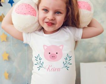 pig gift, piggy, piglet gift, pig tshirt, kid pig tshirt, pet t shirt pig, pet gift, kids tshirt