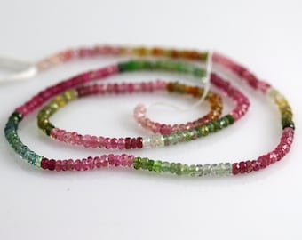 Watermelon Tourmaline Beads - 2 mm - Tourmaline Beads - AAA+