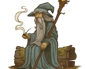 Gandalf Art Print, Lord of the Rings Art Print, Lord of the Rings Art, Lord of the Rings Decor.