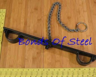 Medium Bar Handcuffs Restraint Bonds of Steel BDSM Mature