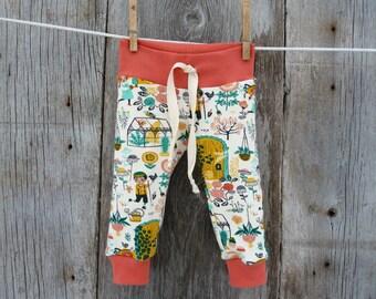 Organic baby clothes, baby girl gift, baby girl gift, organic girl leggings, winter baby clothes, baby girl clothes, gardnen baby clothes